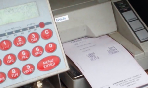 Stampa della ricevuta con il peso netto del pellet sfuso